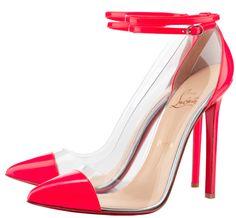 "Christian Louboutin Bis Un Bout pumps.""sit and look pretty"" shoes. Curvy Petite Fashion, Red Bottom Shoes, Red High Heels, Pink Pumps, Christian Louboutin Shoes, Louboutin Pumps, Beautiful Shoes, Me Too Shoes, Cl Shoes"