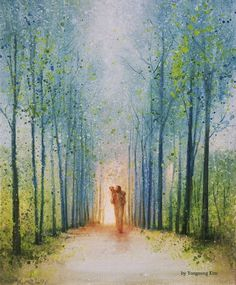 The Shepherd's Path is a painting that depicts Jesus Christ walking down a path while holding a lost sheep - Yongsung Kim Images Of Christ, Pictures Of Jesus Christ, Arte Lds, Christian Artwork, Christian Artist, Holy Art, Site Art, Lds Art, Jesus Painting