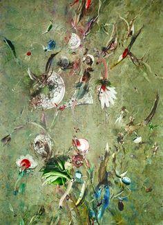 Wenn Natur vom Ornament fällt 2014, Öl auf Simopor, 140,5 x 100 cm