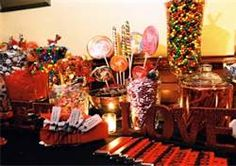 wedding candy bar - with all of the groom's favorite candies!