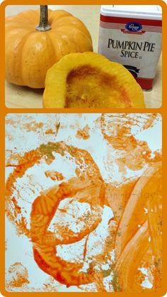 Fall Process Art for Preschoolers: Pumpkin Pie Painting from www.fun-a-day.com
