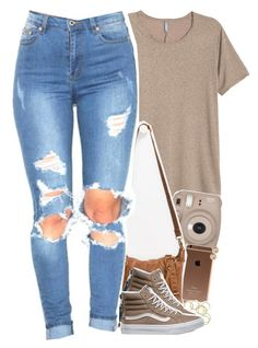 """come & see me"" by daisym0nste ❤ liked on Polyvore featuring T-shirt & Jeans, Vans and Michael Kors"