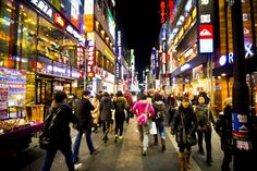 things to do in seoul:Myeongdong Shopping Street