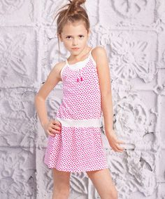Love this Red Polka Dot Spaggia Dress - Toddler by Jelly the Pug on #zulily! #zulilyfinds