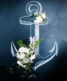 Flowers on Chalkboard Anchor-Almost too pretty