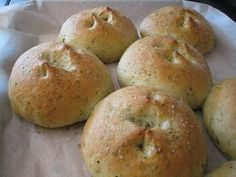 Pesto Dinner Rolls. I made these today with some leftover pesto. And wow! A new favorite...
