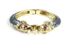 Betsey Johnson Jewelry Sea Excursion Seahorse Bangle Bracelet