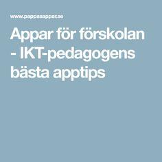 Appar för förskolan - IKT-pedagogens bästa apptips