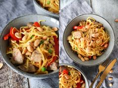 Delicious Stir Fry With Noodles, Pork And Vegetables - Easy Dinner Recipe - By One Kitchen Easy Dinner Recipes, Great Recipes, Youtube Cooking Channels, Stir Fry Noodles, Wok, Food Hacks, Fries, Cabbage, Food Porn