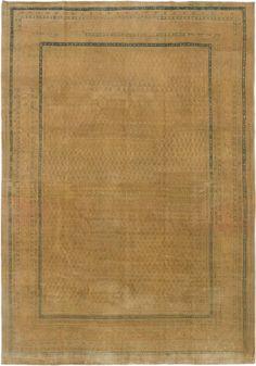 Hand-knotted Anatolian Sunwash Ivory, Khaki Wool Rug