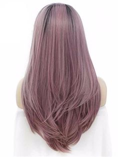 Wig Type: Synthetic Lace Front Wig Materials: Heat Resistance Silk Hair Length: 24 Inch Hair Color: Grayish Pastel Pink Hair Texture: Straight Hair Density: 150% Heavy Hairline: Natural Hairline Lace Color: Light Brown Lace Material: Swiss Lace Cap Size: Average Cap Construction: Glueless Lace Cap