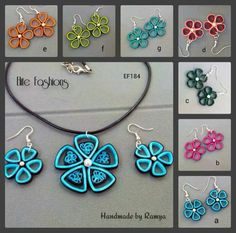 Quilled Jewelry - by: Handmade by Ramya