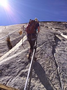 The Half-Dome Cable Route - Yosemite National Park #realtravel #hiking