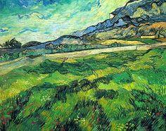 The Green Wheatfield behind the Asylum, Vincent van Gogh