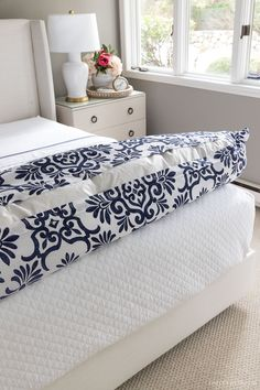 The steps to putting your duvet insert into the cover (without it being a struggle)! Decorating Tips, Decorating Your Home, White Coverlet, Driven By Decor, The Company Store, New England Homes, Cute Room Decor, Guest Bed, Dream Rooms