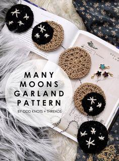 Crochet Home, Crochet Crafts, Yarn Crafts, Crochet Baby, Crochet Projects, Diy Crochet Garland, Knitting Patterns, Crochet Patterns, Crochet Ideas