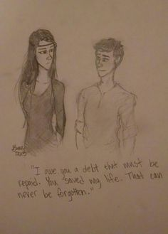 Arya and Eragon from The Inheritance Cycle ::By Grace Obenhaus::