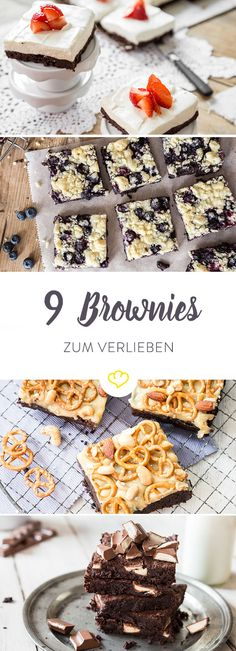 Brownies - 1 Grundrezept, 9 Varianten – für jeden Tag eine. Und für Samstag und Sonntag zwei …