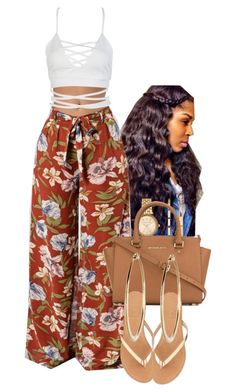 A fashion look from October 2017 by muvaaliyah featuring WithChic, J.Crew, MICHAEL Michael Kors and Michael Kors Swag Outfits For Girls, Cute Swag Outfits, Teen Fashion Outfits, Teenager Outfits, Girly Outfits, Classy Outfits, Stylish Outfits, Summer Outfits, Fashion Tips