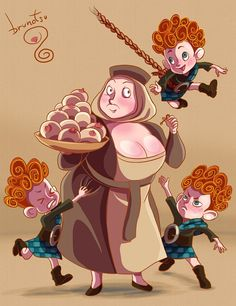 DeviantArt: More Like Chibi Merida by Jennifairyw Pixar Animated Movies, Pixar Movies, Brave Princess, Princess Disney, Brave Costume, Brave Movie, Brave 2012, Disney Love, Disney Pixar