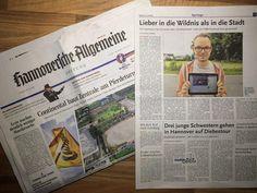 Wir sind im regionalen Teil der Hannoversche Allgemeine Zeitung / HAZ!  Meine Schwester schrieb mir vorhin dass es auch in der HAZ sei. Da musste ich nach Feierabend zum nächsten Laden und mir die Zeitung... ähhhh... das Erinnerungsstück kaufen :)  Ist jemand durch den Zeitungsartikel aufmerksam geworden?  / Tim - http://ift.tt/1S5CjNU - #dorfkindmoment #dorfstattstadt
