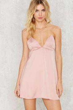 Motel Lucia Satin Dress - Dresses