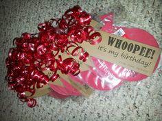 Whoopee!  It's my birthday! + mini whoopee cushion = fun, non-edible, birthday treat for school