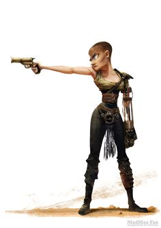 Oh what a drawing! What a lovely drawing! This collection of Mad Max: Fury Road illustrations is the work of artist Wanchana Intrasombat of Thailand, who Mad Max Fury Road, Character Concept, Character Art, Concept Art, Cyberpunk, Imperator Furiosa, Character Design References, Cartoon Art, Female Characters