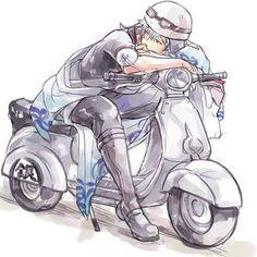 Gintoki and his vespa