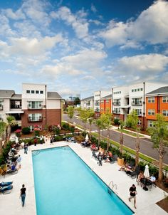 Soak in the sun and cool off in CanalSide Lofts' pool