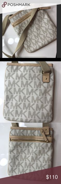 Michael Kors Crossbody Bag (vanilla) Excellent Condition MK Crossbody with adjustable strap and snap closure... Michael Kors Bags Crossbody Bags