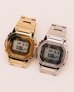 The durability you love about G-Shock mixed with a stylish metal in both gold and silver. From now until June 24 get off any watch… G Shock Watches, Casio G Shock, Best Watches For Men, Cool Watches, G Shock Protection, Gold G Shock, G Shock Limited, June 24, Black Crystals