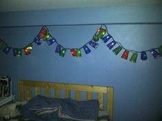 I made this for my little guy as he doesn't like the dark!  Yeah Pinterest!  It ended up so cute.