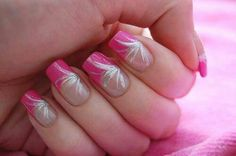 Hot pink and silver design