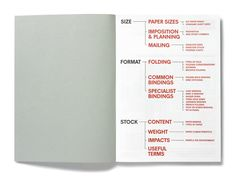 nice way to do contents page - Studio 8 design - Size Format Stock booklet