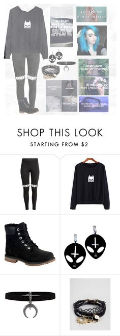 """""""//You're Ripped At Every Edge But Your A Masterpiece\\"""" by katt-is-a-unicorn ❤ liked on Polyvore featuring Timberland and ASOS"""