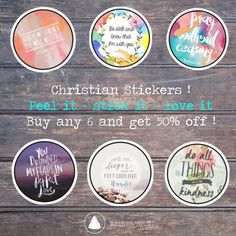 Wanna stick some Christian Stickers on your Laptop or wherever you like ? Well, now you can do it for half the price! Buy any 6 and get 50% off!.. Get 15% off the whole ball of wax. Which is everything. Use HAPPY15. #bethel #store #sticker #stickers #art #quote #quotes #tumblr #girl #girls #girly #rebubble #best #top #cool #amazing #awesome #shopping #trendy #etsy #colorful