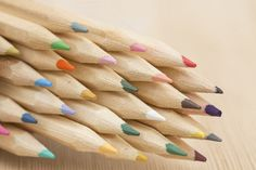 Group of color pencil by Pushish Images on @creativemarket