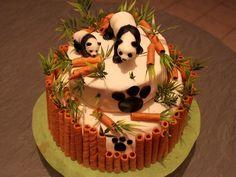 Gâteau pandas