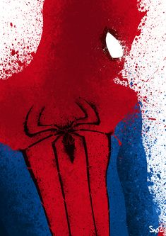 Spider-Man- B-side by ~Sno2 on deviantART  i wanna paint this in art when we start doing paint :)