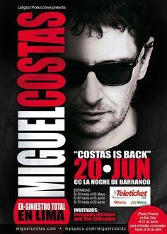 COSTAS EN LIMA: EL 20 DE JUNIO!!!