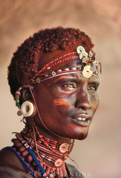Samburu warrior, Kenya by Frans Lanting Explore the World with Travel Nerd Nici… We Are The World, People Around The World, Black Is Beautiful, Beautiful People, Beautiful Boys, 3 4 Face, Frans Lanting, African Tribes, African Men