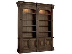 Hooker Furniture 5070-10226 Home Office Rhapsody Double Bookcase (w/out ladder & rail)