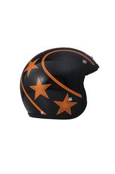 casque dmd stunt   casque vintage dmd étoiles   casque moto étoilé