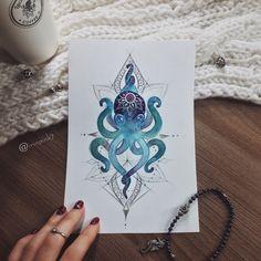 #tattoo #tat #tattoosketch #tattoosketches #tattooartist #art #artlife #artoftheday #artist #pic #picoftheday #picture #illustrator #illustration #illustrate #vsco #vscocam #color #watercolor #watercolortattoo #linework #line #mandala #octopus #octo #octotattoo