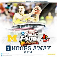 Michigan Basketball NCAA Championship game countdown 3 hours