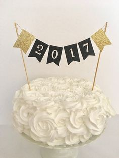Classically Elegant Graduation Cake In Black White And