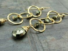 14k Gold Fill Handcrafted Earrings with by hummingbirdcreation