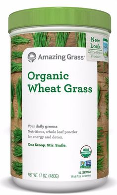 Amazing Grass Organic Wheat Grass Powder 60 Servings 17 Oz New Wheatgrass Powder, Antioxidant Supplements, Organic Supplements, Amazing Grass, Barley Grass, Wheat Grass, Healthy Alternatives, Natural Health