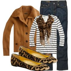 Leopard and stripes - so ready for fall!